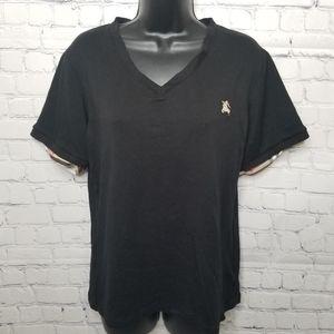 Burberry v neck short sleeve t shirt